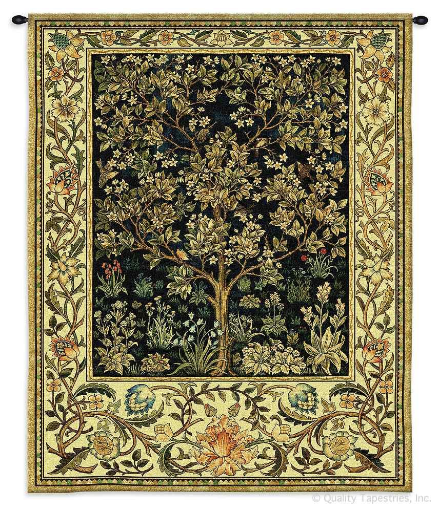 Tree of Life Midnight Blue William Morris Wall Tapestry C-2179M, 2052-Wh, 2052C, 2052Wh, 2179-Wh, 2179C, 2179Cm, 2179Wh, 40-49Incheswide, 40W, 50-59Inchestall, 50-59Incheswide, 53H, 53W, 70-79Inchestall, 71H, Abstract, Art, Artist, S, Blue, Botanical, Carolina, USAwoven, Classic, Contemporary, Cotton, Famous, Floral, Flower, Flowers, Gold, Green, Hanging, Large, Life, Masterpiece, Masterpieces, Midnight, Modern, Morris, Of, Old, Painter, Painting, Paintings, Pedals, Seller, Tapastry, Tapestries, Tapestry, Tapistry, Top50, Tree, Vertical, Wall, William, Woven, Yellow, Yellow, Bestseller, Treeoflife