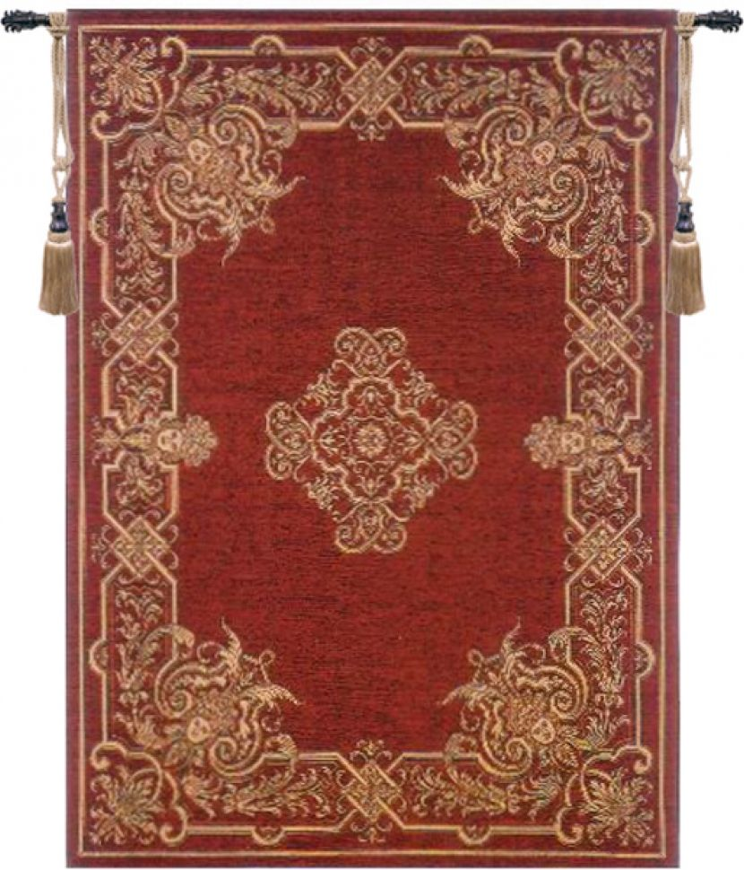 Renaissance Belgian Wall Tapestry red