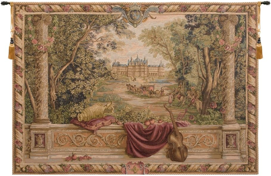 Verdure au Chateau French Wall Tapestry W-398, 10-29Inchestall, 10-29Incheswide, 30-39Inchestall, 30-39Incheswide, 34H, 40-49Incheswide, 44H, 44W, 58H, 58W, 78W, Art, Ashley, Au, Brown, Castle, Chateau, Collection, Cotton, Europe, European, France, French, Grande, Hanging, Horizontal, Medieval, Of, Old, Olde, Palace, Red, Tapastry, Tapestries, Tapestry, Tapistry, Top50, Verdure, Wall, World, Woven, Bestseller, Frenchwoven, Europeanwoven