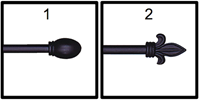Simple Black Rod R-10A, R-11A Adjustable, Rod