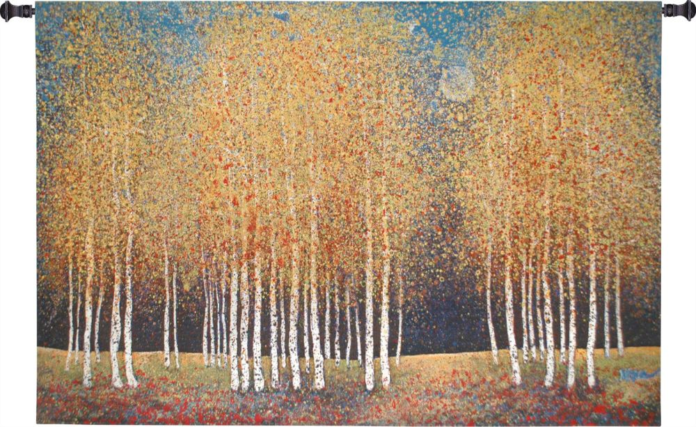 Birch Grove Wall Tapestry Art, Artist, S, Bold, Botanical, Bright, Carolina, USAwoven, Contemporary, Cotton, Famous, Floral, Flower, Flowers, Fruit, Green, Hanging, Horizontal, Masterpiece, Masterpieces, Modern, Old, Painting, Paintings, Pedals, Seller, Tapastry, Tapestries, Tapestry, Tapistry, Top50, Tree, Wall, Woven, Yellow, Yellow, Bestseller, Red, tapestries, tapestrys, hangings, and, the, night, day, trees, tree, birch, golden, forest