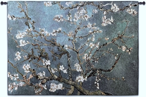 Almond Blossom Blue Horizontal Wall Tapestry Abstract, Almond, Art, S, Blossom, Blue, Botanical, Carolina, USAwoven, Cotton, Floral, Flower, Flowers, Gogh, Hanging, Oriental, Pedals, Seller, Tapestries, Tapestry, Top50, Tree, Van, Wall, Woven, Woven, Bestseller, tapestries, tapestrys, hangings, and, the, exclusive