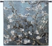 Almond Blossom Blue Square Wall Tapestry - C-4572
