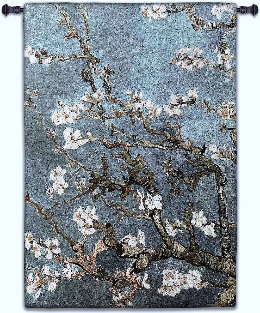Almond Blossom Blue Vertical Wall Tapestry Abstract, Almond, Art, S, Blossom, Blue, Botanical, Carolina, USAwoven, Cotton, Floral, Flower, Flowers, Gogh, Hanging, Oriental, Pedals, Seller, Tapestries, Tapestry, Top50, Tree, Van, Wall,Woven, Woven, Bestseller, tapestries, tapestrys, hangings, and, the, exclusive, vertical