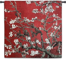 Almond Blossom Red Square Wall Tapestry Abstract, Almond, Art, S, Blossom, Red, Botanical, Carolina, USAwoven, Cotton, Floral, Flower, Flowers, Gogh, Hanging, Oriental, Pedals, Seller, Square, Tapestries, Tapestry, Top50, Tree, Van, Wall, Woven, Woven, Bestseller, tapestries, tapestrys, hangings, and, the, exclusive