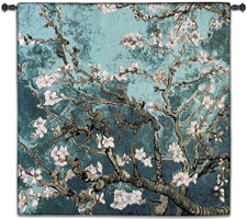 Almond Blossom Teal Square Wall Tapestry Abstract, Almond, Art, S, Blossom, Teal, Turquoise, Botanical, Carolina, USAwoven, Cotton, Floral, Flower, Flowers, Gogh, Gray, Grey, Hanging, Oriental, Pedals, Purple, Seller, Square, Tapestries, Tapestry, Top50, Tree, Van, Wall, White, Woven, Woven, Bestseller, tapestries, tapestrys, hangings, and, the, exclusive