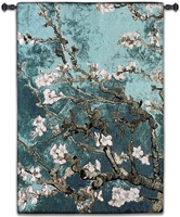 Almond Blossom Teal Vertical Wall Tapestry Abstract, Almond, Art, S, Blossom, Teal, Turquoise, Botanical, Carolina, USAwoven, Cotton, Floral, Flower, Flowers, Gogh, Hanging, Oriental, Pedals, Purple, Seller, Square, Tapestries, Tapestry, Top50, Tree, Van, Wall, White, Woven, Woven, Bestseller, tapestries, tapestrys, hangings, and, the, exclusive, vertical
