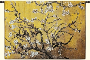 Almond Blossom Yellow Horizontal Wall Tapestry Abstract, Almond, Art, S, Blossom, Yellow, Botanical, Carolina, USAwoven, Cotton, Floral, Flower, Flowers, Gogh, Hanging, Oriental, Pedals, Seller, Tapestries, Tapestry, Top50, Tree, Van, Wall, Woven, Woven, Bestseller, tapestries, tapestrys, hangings, and, the, exclusive