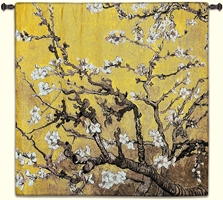 Almond Blossom Yellow Square Wall Tapestry Abstract, Almond, Art, S, Blossom, Yellow, Botanical, Carolina, USAwoven, Cotton, Floral, Flower, Flowers, Gogh, Gray, Grey, Hanging, Oriental, Pedals, Purple, Seller, Square, Tapestries, Tapestry, Top50, Tree, Van, Wall, White, Woven, Woven, Bestseller, tapestries, tapestrys, hangings, and, the, exclusive