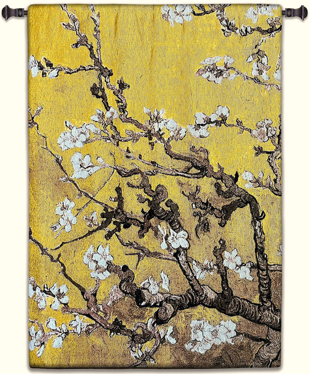 Almond Blossom Yellow Vertical Wall Tapestry Abstract, Almond, Art, S, Blossom, Yellow, Botanical, Carolina, USAwoven, Cotton, Floral, Flower, Flowers, Gogh, Gray, Grey, Hanging, Oriental, Pedals, Purple, Seller, Square, Tapestries, Tapestry, Top50, Tree, Van, Wall, White, Woven, Woven, Bestseller, tapestries, tapestrys, hangings, and, the, exclusive, vertical