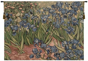 Iris by Van Gogh Italian Wall Tapestry Hanging, Tapestries, Woven, tapestries, tapestrys, hangings, and, the