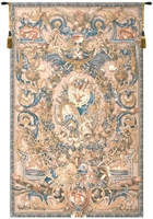 Baroque Belgian Wall Tapestry door, fragment, W-1623, 10-29Inchestall, 114H, 30-39Incheswide, 37W, 50-59Inchestall, 50-59Incheswide, 55W, 57H, 70-79Incheswide, 72W, 80-99Inchestall, 82H, Belgian, Big, Blue, Feu, Gold, Large, Really, Tapestry, Vertical, Wall, Bestseller, Belgianwoven, Europeanwoven, tapestries, tapestrys, hangings, and, the, fue, fire, feu, coat, of, arms, Versailles Ornate