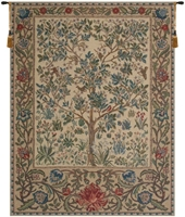 Tree of Life Beige William Morris Belgian Wall Tapestry Hanging, Tapestries, Woven, tapestries, tapestrys, hangings, and, the
