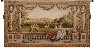 Maison Royale II Wide French Wall Tapestry W-664, 100-200Incheswide, 110W, 50-59Inchestall, 50-59Incheswide, 58H, 58W, 70-79Incheswide, 78W, Art, Bellevue, Big, Biggest, Brown, Castle, Chateau, Collection, Cotton, Enormous, Europe, European, France, French, Grande, Hanging, Horizontal, Huge, Large, Largest, Medieval, Of, Old, Olde, Palace, Really, Tapastry, Tapestries, Tapestry, Tapistry, Top50, Vintage, Wall, World, Woven, Bestseller, Frenchwoven, Europeanwoven, wool, tapestries, tapestrys, hangings, and, the, wool, Renaissance, rennaisance, rennaissance, renaisance, renassance, renaissanse, Bellevue Castle, baroque