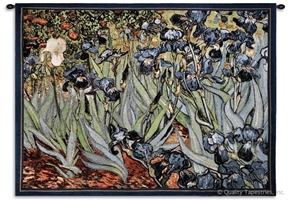 Van Gogh Irises Wall Tapestry C-1344, 1344-Wh, 1344C, 1344Wh, 30-39Inchestall, 38H, 50-59Incheswide, 53W, Abstract, Art, Artist, S, Blue, Botanical, Carolina, USAwoven, Contemporary, Cotton, Earth, Famous, Field, Floral, Flower, Flowers, Gogh, Green, Hanging, Horizontal, Irises, Landscape, Landscapes, Masterpiece, Masterpieces, Modern, Old, Painting, Paintings, Pedals, Purple, Scene, Seller, Tapastry, Tapestries, Tapestry, Tapistry, Van, Vincent, Wall, Woven, Woven, Bestseller, tapestries, tapestrys, hangings, and, the
