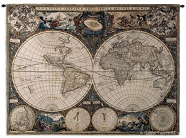 Old World Map Vintage Hemispheres Wall Tapestry C-1447, 1447-Wh, 1447C, 1447Wh, 30-39Inchestall, 38H, 50-59Incheswide, 53W, Ac, Ancient, Antique, Art, Ashley, Brown, Carolina, USAwoven, Cotton, Famous, Geographica, Grande, Hanging, Hemisphere, Hemispheres, Horizontal, Hydrographica, Map, Maps, Nova, Old, Olde, Orbis, Pangea, Tabula, Tapestries, Tapestry, Terrae, Terrarum, Totius, Vintage, Wall, World, Woven, tapestries, tapestrys, hangings, and, the