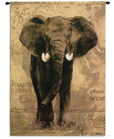 Map of Africa Elephant Wall Tapestry C-1599, 1599-Wh, 1599C, 1599Wh, 30-39Incheswide, 38W, 50-59Inchestall, 53H, Africa, African, Ancient, Antique, Art, Brown, Carolina, USAwoven, Cotton, Elephant, Famous, Grande, Group, Hanging, Hemisphere, Hemispheres, I, Map, Maps, Of, Old, Olde, Pangea, Tapastry, Tapestries, Tapestry, Tapistry, Vertical, Vintage, Voyage, Wall, World, Woven, tapestries, tapestrys, hangings, and, the