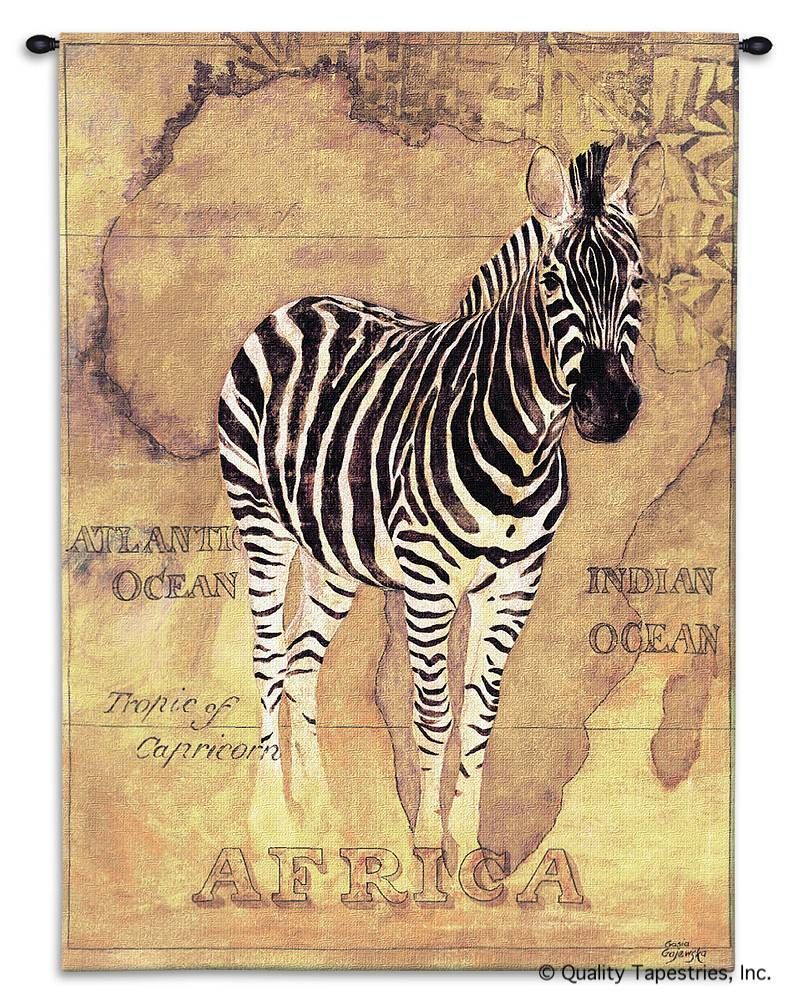 Map of Africa Zebra Wall Tapestry C-1600, 1600-Wh, 1600C, 1600Wh, 30-39Incheswide, 38W, 50-59Inchestall, 53H, Africa, African, Animal, Animals, Antique, Art, Brown, Carolina, USAwoven, Cotton, Grande, Group, Hanging, Hemisphere, Hemispheres, Ii, Map, Maps, Of, Old, Olde, Pangea, Tapastry, Tapestries, Tapestry, Tapistry, Vertical, Vintage, Voyage, Wall, World, Woven, Zebra, tapestries, tapestrys, hangings, and, the
