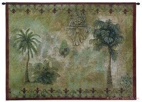 Masoala Palm Trees Wall Tapestry C-2001, 2001-Wh, 2001C, 2001Wh, 30-39Inchestall, 38H, 50-59Incheswide, 53W, Ancient, Antique, Art, Border, Brown, Carolina, USAwoven, Cotton, Famous, Grande, Green, Group, Hanging, Hemisphere, Hemispheres, Horizontal, Map, Maps, Masoala, Old, Olde, Palm, Pangea, Red, Tapestries, Tapestry, Trees, Vintage, Wall, World, Woven, tapestries, tapestrys, hangings, and, the