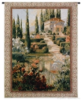 Tuscan Estate II Wall Tapestry C-2113, 2113-Wh, 2113C, 2113Wh, 40-49Incheswide, 42W, 50-59Inchestall, 53H, Art, Carolina, USAwoven, Cotton, Erope, Estate, Europe, European, Eurupe, Green, Hanging, Home, Ii, Italian, Italy, Light, Tapestries, Tapestry, Tuscan, Urope, Vertical, Wall, Woven, Yellow, tapestries, tapestrys, hangings, and, the
