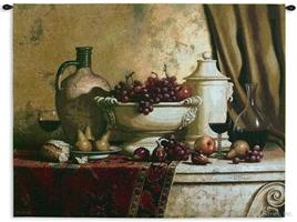 Italian Feast Still Life Wall Tapestry C-2543M, 2539-Wh, 2539C, 2539Wh, 2543-Wh, 2543C, 2543Cm, 2543Wh, 40-49Inchestall, 42H, 50-59Inchestall, 50-59Incheswide, 53H, 53W, 60-69Incheswide, 66W, Alcohol, Art, S, Brown, Carolina, USAwoven, Cotton, European, Feast, Grapes, Hanging, Horizontal, Italian, Large, Life, Old, Seller, Spirits, Still, Tapestries, Tapestry, Tuscan, Tuscany, Urn, Vineyard, Wall, Wine, World, Woven, Woven, Bestseller, tapestries, tapestrys, hangings, and, the