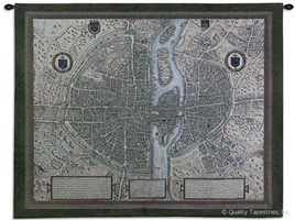 Map of Paris Wall Tapestry C-2764, 2764-Wh, 2764C, 2764Wh, 40-49Inchestall, 42H, 50-59Incheswide, 53W, Antique, Art, Ashley, Carolina, USAwoven, City, Cityscape, Cityscapes, Cotton, Erope, Europe, European, Eurupe, France, Grande, Gray, Hanging, Hemisphere, Hemispheres, Horizontal, Map, Maps, Of, Old, Olde, Overview, Pangea, Paris, Tapestries, Tapestry, Urope, Vintage, Wall, World, Woven, tapestries, tapestrys, hangings, and, the