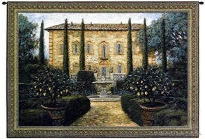 Italian Villa Wall Tapestry C-2796, 2796-Wh, 2796C, 2796Wh, 30-39Inchestall, 36H, 50-59Incheswide, 53W, Art, Brown, Carolina, USAwoven, Cotton, Erope, Europe, European, Eurupe, Green, Hanging, Home, Horizontal, Italian, Italy, Landscape, Tapestries, Tapestry, Tuscan, Tuscany, Urope, Villa, Wall, Woven, tapestries, tapestrys, hangings, and, the