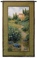 Grape Harvest Time Wall Tapestry C-2798, 10-29Incheswide, 26W, 2798-Wh, 2798C, 2798Wh, 40-49Inchestall, 45H, Alcohol, Art, Brown, Carolina, USAwoven, Cotton, Estate, Europe, European, Grape, Green, Hanging, Harvest, Home, Purple, Spirits, Tapestries, Tapestry, Time, Vertical, Vineyard, Wall, Wine, Woven, tapestries, tapestrys, hangings, and, the