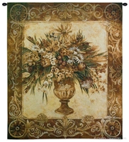 Tuscan Urn Sienna Wall Tapestry C-2961, Carolina, USAwoven, Tapestry, Floral, Botanical, Still, Life, Abstract, Brown, Group, 40-49Incheswide, 50-59Inchestall, Vertical, Cotton, Woven, Wall, Hanging, Tapestries, tapestries, tapestrys, hangings, and, the