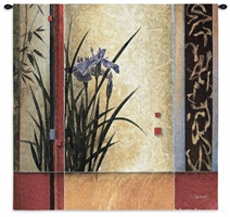 Li-Leger Garden Gateway Wall Tapestry C-3024, 3024-Wh, 3024C, 3024Wh, 50-59Inchestall, 50-59Incheswide, 53H, 53W, Abstract, Art, Beige, Botanical, Brown, Carolina, USAwoven, Contemporary, Cotton, Floral, Flower, Flowers, Garden, Gateway, Hanging, Li-Leger, Modern, Pedals, Square, Tapestries, Tapestry, Wall, Woven, tapestries, tapestrys, hangings, and, the
