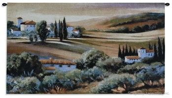 Tuscan Afternoon Light Wall Tapestry C-3036, 30-39Inchestall, 3036-Wh, 3036C, 3036Wh, 32H, 50-59Incheswide, 53W, Afternoon, Art, Carolina, USAwoven, Cotton, Countryside, Earth, Erope, Estate, Europe, European, Eurupe, Field, Gold, Hanging, Home, Horizontal, Italian, Italy, Landscape, Landscapes, Light, Orange, Scene, Tapestries, Tapestry, Tuscan, Tuscany, Urope, Wall, Woven, tapestries, tapestrys, hangings, and, the