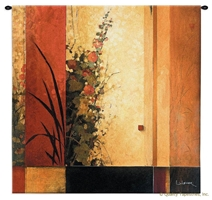 Li-Leger Hollyhock Garden II Wall Tapestry C-3058M, 30-39Inchestall, 30-39Incheswide, 3057-Wh, 3057C, 3057Wh, 3058-Wh, 3058C, 3058Cm, 3058Wh, 35H, 35W, 50-59Inchestall, 50-59Incheswide, 53H, 53W, Abstract, Art, Artist, Botanical, Brown, Carolina, USAwoven, Contemporary, Cotton, Don, Floral, Flower, Flowers, Garden, Hanging, Hollyhock, Ii, Leger, Li, Li-Leger, Lileger, Modern, Orange, Pedals, Square, Tapastry, Tapestries, Tapestry, Tapistry, Wall, Woven, tapestries, tapestrys, hangings, and, the