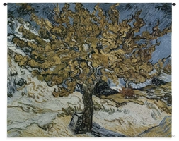 Van Gogh The Mulberry Tree Wall Tapestry C-3085, 3085-Wh, 3085C, 3085Wh, 40-49Inchestall, 44H, 50-59Incheswide, 53W, Abstract, Art, Artist, S, Blue, Carolina, USAwoven, Contemporary, Cotton, Famous, Gogh, Gold, Hanging, Horizontal, Masterpiece, Masterpieces, Modern, Mulberry, Old, Painting, Paintings, Purple, Seller, Tapestries, Tapestry, The, Tree, Van, Vincent, Wall, Woven, Woven, Bestseller, tapestries, tapestrys, hangings, and, the