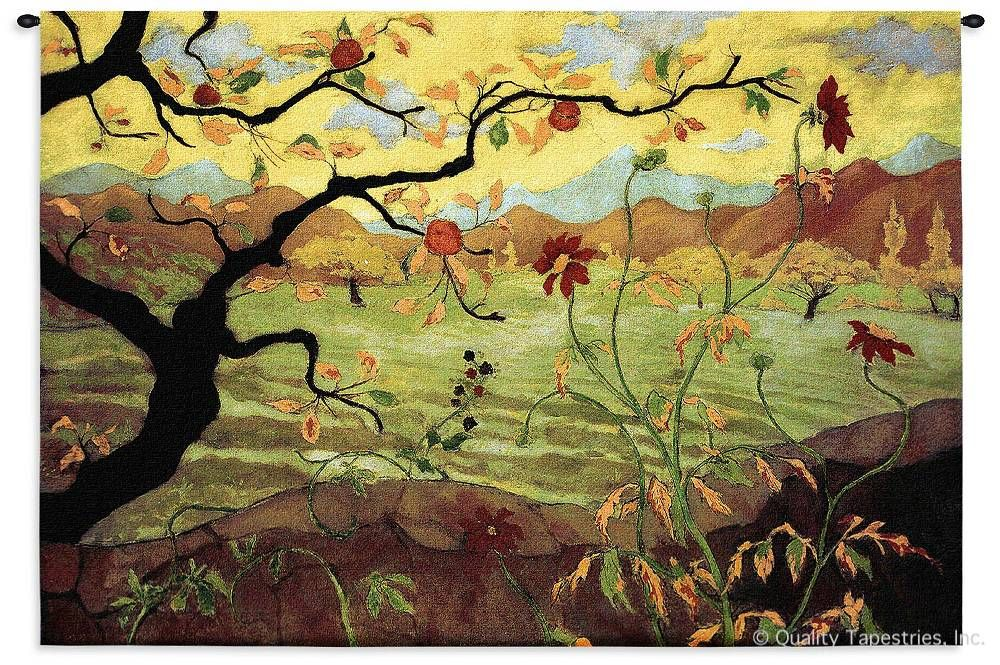 Apple Tree With Red Fruit Wall Tapestry C-3089, 30-39Inchestall, 3089-Wh, 3089C, 3089Wh, 38H, 50-59Incheswide, 53W, Abstract, Apple, Art, Artist, S, Bold, Botanical, Bright, Carolina, USAwoven, Contemporary, Cotton, Famous, Floral, Flower, Flowers, Fruit, Green, Hanging, Horizontal, Masterpiece, Masterpieces, Modern, Old, Painting, Paintings, Pedals, Seller, Tapastry, Tapestries, Tapestry, Tapistry, Top50, Tree, Wall, Woven, Yellow, Yellow, Bestseller, Red, tapestries, tapestrys, hangings, and, the