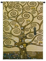 Gustav Klimt Tree of Life Wall Tapestry C-3090, 30-39Incheswide, 3090-Wh, 3090C, 3090Wh, 35W, 40-49Inchestall, 48H, Abstract, Art, Artist, Brown, Carolina, USAwoven, Contemporary, Cotton, Famous, Gustav, Hanging, Klimt, Life, Masterpiece, Masterpieces, Modern, Of, Old, Painting, Paintings, Tapastry, Tapestries, Tapestry, Tapistry, Tree, Vertical, Wall, Woven, Treeoflife, tapestries, tapestrys, hangings, and, the