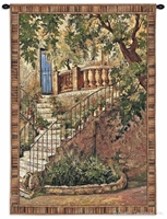 Italian Residence Wall Tapestry C-3356M, 3352-Wh, 3352C, 3352Wh, 3356-Wh, 3356C, 3356Cm, 3356Wh, 40-49Incheswide, 40W, 50-59Inchestall, 50-59Incheswide, 52W, 53H, 70-79Inchestall, 70H, Art, Brown, Carolina, USAwoven, Cotton, Erope, Europe, European, Eurupe, Hanging, Home, I, Stairs, Tapestries, Tapestry, Tuscan, Urope, Vertical, Villa, Wall, Woven, tapestries, tapestrys, hangings, and, the, stairs, i