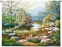 Gazebo by Water Brook Wall Tapestry