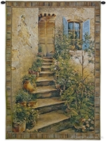 Italian Cottage Wall Tapestry C-3443M, 10-29Incheswide, 26W, 30-39Inchestall, 32H, 3339-Wh, 3339C, 3339Wh, 3351-Wh, 3351C, 3351Wh, 3443-Wh, 3443C, 3443Cm, 3443Wh, 40-49Incheswide, 43W, 50-59Inchestall, 50-59Incheswide, 53H, 53W, 70-79Inchestall, 75H, Art, S, Blue, Brown, Carolina, USAwoven, Cotton, Erope, Europe, European, Eurupe, Green, Hanging, Home, Ii, Seller, Staircase, Stairs, Tapestries, Tapestry, Top50, Tuscan, Tuscany, Urope, Vertical, Villa, Wall, Woven, Woven, Bestseller, tapestries, tapestrys, hangings, and, the, Tuscan Villa Stairs II