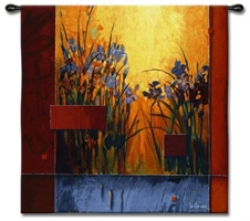 Li-Leger Iris Sunrise Wall Tapestry C-3595, 3595-Wh, 3595C, 3595Wh, 50-59Inchestall, 50-59Incheswide, 53H, 53W, Abstract, Art, Artist, Botanical, Carolina, USAwoven, Contemporary, Cotton, Don, Floral, Flower, Flowers, Hanging, Iris, Leger, Li, Li-Leger, Lileger, Modern, Orange, Pedals, Red, Square, Sunrise, Tapastry, Tapestries, Tapestry, Tapistry, Wall, Woven, tapestries, tapestrys, hangings, and, the