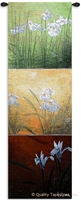 Li-Leger Aura II Wall Tapestry C-3615, 10-29Incheswide, 18W, 3615-Wh, 3615C, 3615Wh, 50-59Inchestall, 53H, Abstract, Art, Artist, Aura, Botanical, Carolina, USAwoven, Contemporary, Cotton, Don, Floral, Flower, Flowers, Green, Group, Hanging, Ii, Leger, Li, Li-Leger, Lileger, Long, Modern, Orange, Panel, Pedals, Red, Tall, Tapastry, Tapestries, Tapestry, Tapistry, Vertical, Wall, Woven, tapestries, tapestrys, hangings, and, the