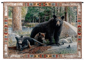 Mother Bear & Cubs Wall Tapestry C-3759M, &, 30-39Inchestall, 36H, 3758-Wh, 3758C, 3758Wh, 3759-Wh, 3759C, 3759Cm, 3759Wh, 50-59Inchestall, 50-59Incheswide, 53H, 53W, 70-79Incheswide, 71W, American, And, Animal, Art, Bear, Bears, S, Black, Border, Carolina, USAwoven, Cotton, Cub, Cubs, Green, Hanging, Horizontal, Hunting, Indian, Lodge, Mother, Native, New, Pattern, Print, Rustic, Seller, Tapestries, Tapestry, Tapistry, Trees, Wall, Western, Woods, Woven, Woven, Bestseller, tapestries, tapestrys, hangings, and, the