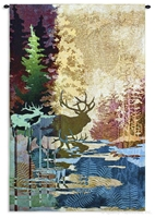 Silhouettes Among the Trees Wall Tapestry C-4018M, 30-39Incheswide, 36W, 3899-Wh, 3899C, 3899Wh, 4018-Wh, 4018C, 4018Cm, 4018Wh, 50-59Inchestall, 50-59Incheswide, 52H, 53W, 80-99Inchestall, 83H, Abstract, Animal, Animals, Art, Big, Brown, Carolina, USAwoven, Contemporary, Cotton, Ghosts, Hanging, Hunting, Large, Lodge, Modern, Mountain, Mountains, Of, Purple, Really, Red, Rustic, Tall, Tapastry, Tapestries, Tapestry, Tapistry, The, Timbers, Vertical, Wall, Woods, Woven, rustic, elk, moose, lodge, tapestries, tapestrys, hangings, and, the