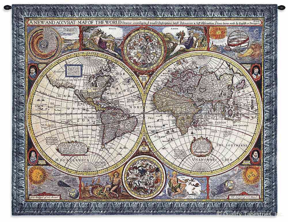 Antique Map Old World Blue Wall Tapestry C-4117M, 30-39Inchestall, 37H, 40-49Incheswide, 4117-Wh, 4117C, 4117Cm, 4117Wh, 4120-Wh, 4120C, 4120Wh, 45W, 50-59Inchestall, 54H, 60-69Incheswide, 67W, A, Ac, Accurate, Ancient, And, Antique, Art, S, Blue, Carolina, USAwoven, Cotton, Famous, Geographica, Grande, Hanging, Hemisphere, Hemispheres, Horizontal, Hydrographica, Map, Maps, New, Nova, Old, Olde, Orbis, Pangea, Seller, Tabula, Tapestries, Tapestry, Terrae, Terrarum, Top50, Totius, Vintage, Wall, World, Woven, Woven, Bestseller, tapestries, tapestrys, hangings, and, the