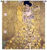Gustav Klimt Adele Bloch Bauer I Wall Tapestry C-4545, 4545-Wh, 4545C, 4545Wh, 50-59Inchestall, 50-59Incheswide, 52W, 58H, Abstract, Adele, Art, Artist, Bauer, Bloch, Brown, Carolina, USAwoven, Contemporary, Cotton, Famous, Gold, Gustav, Hanging, I, Klimt, Masterpiece, Masterpieces, Modern, Old, Painting, Paintings, People, Tapastry, Tapestries, Tapestry, Tapistry, Vertical, Wall, Woven, Yellow, tapestries, tapestrys, hangings, and, the
