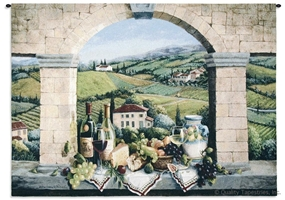 Vino de Tuscany Wall Tapestry C-4575, 40-49Inchestall, 44H, 4575-Wh, 4575C, 4575Wh, 50-59Incheswide, 52W, Alcohol, Arch, Art, Ashley, Bottle, Brick, Carolina, USAwoven, Cotton, De, Europe, European, Glass, Green, Hanging, Horizontal, Italian, Italy, Life, Purple, Spirits, Still, Tapestries, Tapestry, Tuscan, Tuscany, Vineyard, Vino, Wall, Wine, Woven, tapestries, tapestrys, hangings, and, the, large