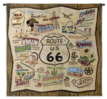 US Route 66 Map Wall Tapestry C-5269, 40-49Inchestall, 40-49Incheswide, 44H, 44W, 5269-Wh, 5269C, 5269Wh, 66, Antique, Art, S, Brown, Carolina, USAwoven, Collage, Cotton, Grande, Hanging, Hemisphere, Hemispheres, Map, Maps, Old, Olde, Pangea, Road, Route, Rt, Seller, Square, Tapestries, Tapestry, Us, Vintage, Wall, Western, World, Woven, Woven, tapestries, tapestrys, hangings, and, the