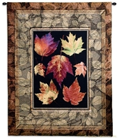 Autumn Glory Maple Leaves Wall Tapestry C-5284, 40-49Incheswide, 42W, 50-59Inchestall, 5284-Wh, 5284C, 5284Wh, 52H, Abstract, Art, Autumn, Botanical, Brown, Carolina, USAwoven, Contemporary, Cotton, Floral, Flower, Flowers, Glory, Hanging, Leaves, Maple, Modern, Pedals, Tapastry, Tapestries, Tapestry, Tapistry, Vertical, Wall, Woven, tapestries, tapestrys, hangings, and, the
