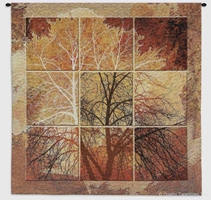 Autumn Tree Orange Squares Wall Tapestry C-5704, 50-59Inchestall, 50-59Incheswide, 52W, 55H, 5704-Wh, 5704C, 5704Wh, Abstract, Art, Autumn, Botanical, Carolina, USAwoven, Contemporary, Cotton, Floral, Flower, Flowers, Group, Hanging, Light, Modern, October, Orange, Pedals, Square, Squares, Tapastry, Tapestries, Tapestry, Tapistry, Tree, Wall, Woven, tapestries, tapestrys, hangings, and, the