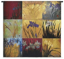 Li-Leger Iris Nine Patch I Wall Tapestry C-5865M, 2072-Wh, 2072C, 2072Wh, 30-39Inchestall, 30-39Incheswide, 31H, 31W, 50-59Inchestall, 50-59Incheswide, 53H, 53W, 5865-Wh, 5865C, 5865Cm, 5865Wh, Abstract, Art, Artist, Asia, Asian, Carolina, USAwoven, Chinese, Contemporary, Cotton, Don, Gold, Hanging, I, Iris, Japanese, Leger, Li, Li-Leger, Lileger, Modern, Nine, Orange, Orient, Oriental, Patch, Red, Square, Tapastry, Tapestries, Tapestry, Tapistry, Wall, Woven, tapestries, tapestrys, hangings, and, the