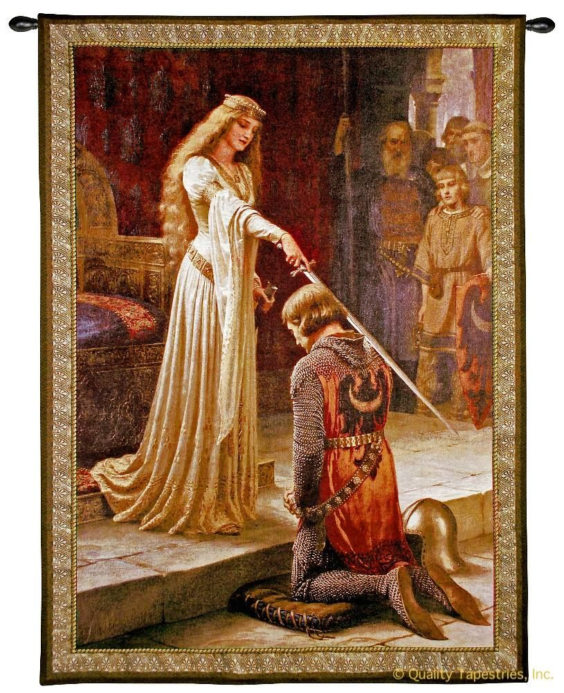 Edmund Leighton Accolade Wall Tapestry C-6046M, 30-39Incheswide, 3070-Wh, 3070C, 3070Wh, 31W, 40-49Inchestall, 40-49Incheswide, 40H, 42W, 50-59Inchestall, 50-59Incheswide, 52W, 53H, 5816-Wh, 5816C, 5816Wh, 6046-Wh, 6046C, 6046Cm, 6046Wh, 70-79Inchestall, 71H, Accolade, Art, S, Blair, Brown, Carolina, USAwoven, Castle, Cotton, Edmund, European, Famous, Hanging, Knighted, Large, Leighton, Medieval, New, Old, Olde, Princess, Seller, Sword, Tapestries, Tapestry, Tapistry, The, Top50, Vertical, Vintage, Wall, World, Woven, Woven, Bestseller, tapestries, tapestrys, hangings, and, the, god, speed, godspeed, painting, lieghton, edmond
